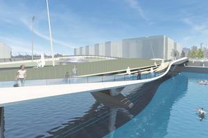 Entwurf der Baakenhafenbrücke, Hamburg  - Wilkinson Eyre Architects