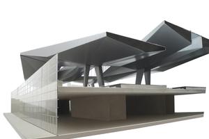 Rautendächer 3-D-Rendering Detail