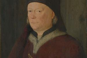 Meister des Marienlebens, Bildnis eines Baumeisters, um 1470 illustriert die Darstellung eines Baumeisters im Mittelalter