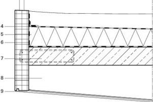 Detail Auskragendes Fassadenelement, M 1:25