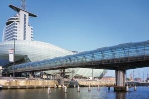Im Zuge des städtebaulichen Projekts Havenwelten entstanden unter anderem das Klimahaus<sup>®</sup>8°Ost, das Atlantic Hotel Sail City und das Deutsche Auswandererhaus<br />