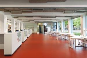 In den Räumen wurde die Konstruktion weitestgehend sichbar gelassen. Durch die Verwendung einfacher, robuster Materialien erreichen die Architekten ein reduziertes Erscheinungsbild