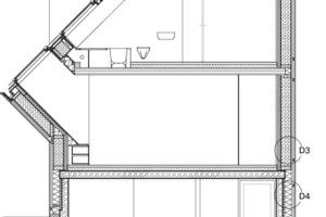 Fassadenschnitt, M 1:100<br />