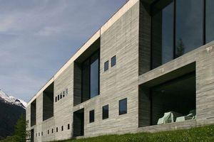 Das berühmteste Gebäude in Vals ... und wohl weit darüber hinaus: Das Thermalbad nach einem Entwurf von Peter Zumthor.