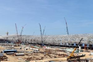 Flughafen in Shenzhen/China; 2008-2012 ; Architekt: Massimiliano Fuksas/Rom<br />