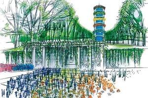 In direkter Nachbarschaft zum Themengartengelände: der Volkspark Marienberg