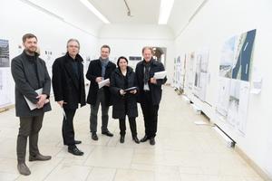 vl: Thomas Schneider, Dipl.-Ing. Christoph Schild, Prof. Dr.-Ing. Detlef Kurth, Prof. Dr. Annette Detzel,  Dipl.-Ing. Burkhard Fröhlich