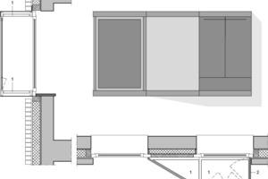 Prinzipdetail Pixelfenster, M 1:40