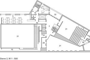 Grundriss Ebene 2, M 1:500<br />
