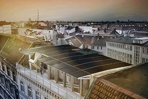 Dach und Fassade werden beim Rooftop-Konzept für die solare Energiegewinnung genutzt