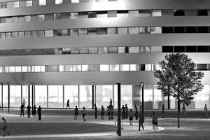 Bürogebäude mit LCN-Steuerung: Sie verspricht einfache Planung, Installation, Parametrierung und Handhabung bei breitem Funktionsumfang
