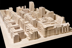 Modell der WerkBundStadt Berlin mit Entwürfen von 33 Architekten und Freiraumplanern