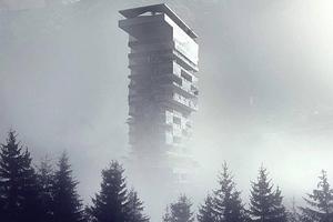 Aber auch die Osloer Architekten hielten das Meiste im Nebel ihres ersten Vorschlags ... als trauten sie sich nicht so recht