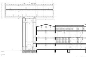 Erweiterungsbau Küppersmühle, Längsschnitt<br />