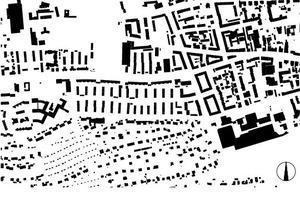Schwarzplan Bestand, M 1:12500