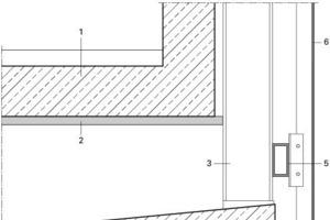 Detail AW-Verkleidung 2. Obergeschoss Skaterrampe, M 1:12,5<br />