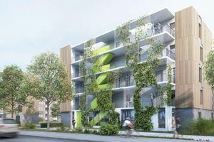 """Preisträger btp architekten brandenburg tebarth: """"Vorgefertigte Fassadenelemente in Holztafelbauweise ermöglichen eine effiziente Bauteilherstellung."""""""