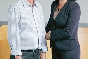 Hans-Jürgen Unger und Prof. Dr.-Ing. Lamia Messari-Becker sprachen über das Klimaschutzkonzept für Riedstadt