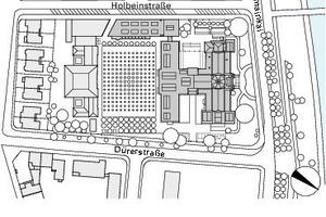 Lageplan, M 1:4500<br />