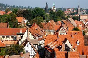 Die Dächer der Altstadt von Quedlinburg