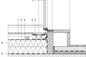Detail Terrassentür, M 1:15