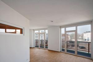 """Fünf der 28 Wohnungen im Neubau """"Apels Bogen"""" sind auch rollstuhl- gerecht. Es ist der erste Neubau der Wohnungsbaugesellschaft UNITAS"""