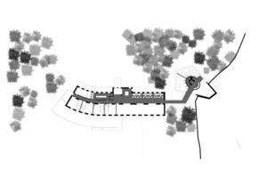 Grundriss 2.OG - Übergang zum Turm-Neubau<br />