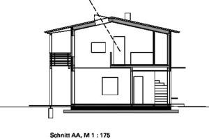 Schnitt AA, M 1:175