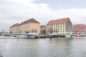 Butterfly-Bridge, Kopenhagen, geschlossen