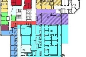 Bauablaufplan, 1. Obergeschoss Haupthaus, M 1:1000