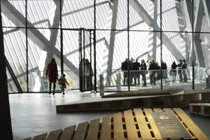 Blick aus der Ausstellung in die Südspitze des Keils<br />