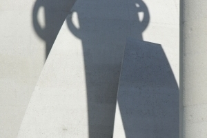 Schattenspiel auf den Betonschalen
