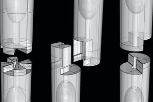 Abb. 4: Neuartige mechanische Verbindungen für Bauteile aus UHPFRC hergestellt mittels CNC-gefräster Wachsschalung am ITE und iBMB der TU Braunschweig