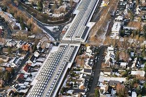 Luftbild: Lärmschutzeinhausung Köln-Lövenich