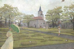 Die Gestaltung des Lustgartens wird an ihrem ursprünglichen Ort neu interpretiert
