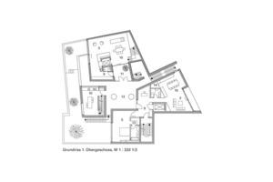 Grundriss 1.Obergeschoss, M 1 : 333 1/3