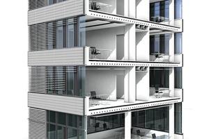 Isometrie Gebäudeschnitt